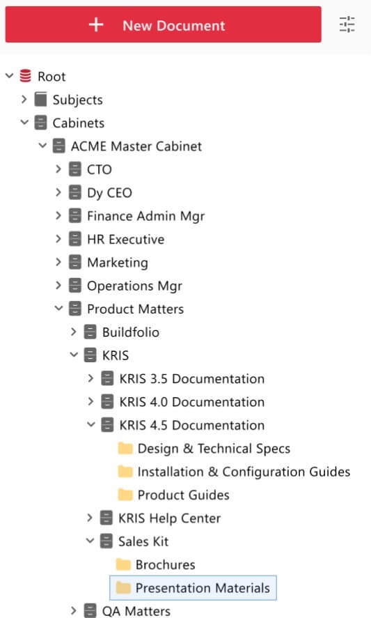 document management system folder structure