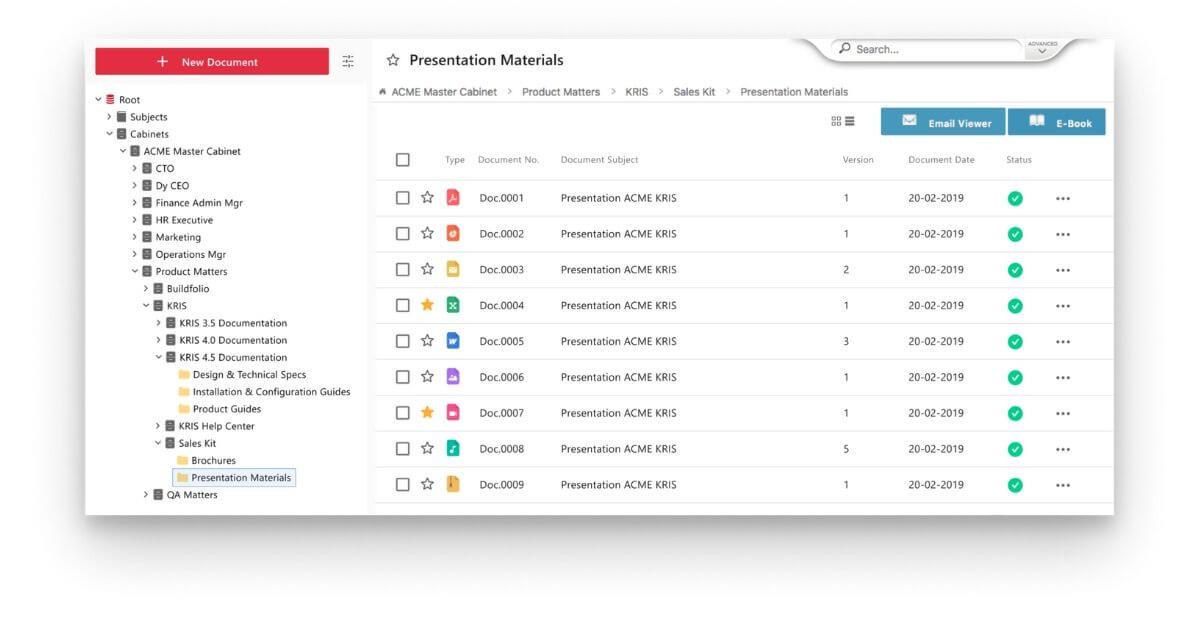 document management system singapore file classification folder view